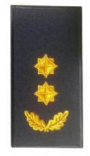 Погон підполковник ДСНС (жовтий) Універсальний - муфта-липучка