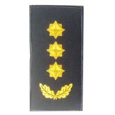 Погон полковник ДСНС (жовтий) Універсальний - муфта-липучка
