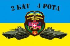 Флаг 30 ОМБр с указанием подразделения на заказ