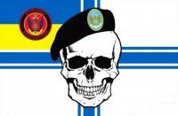 Прапор Морська пiхота України з черепом