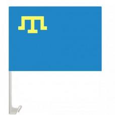 Крымскотатарский флаг на авто