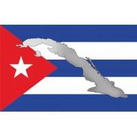 Флаг Куба с картой Острова Свободы