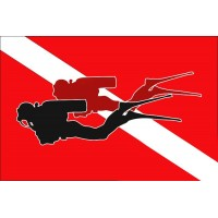 Дайверский флаг 2 дайвера