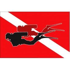 Дайверський прапор 2 дайвера