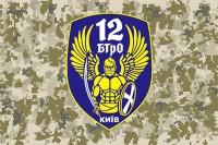 Флаг 12 БТрО Київ (пиксель)