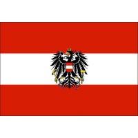 Прапор Австрії з гербом