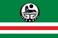 Флаг Ичкерии (белый символ)