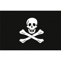 Пиратский флаг череп и кости