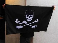 Прапор Чорний Копач (з шоломом)