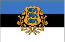 Флаг Эстонии с гербом