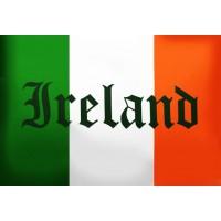 Прапор Ірландії з написом IRELAND