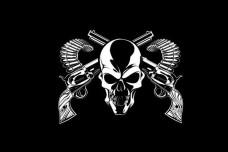 Купить Прапор Череп і револьвери в интернет-магазине Каптерка в Киеве и Украине