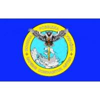 Флаг Воєнна Розвідка України Сова з мечем Синій