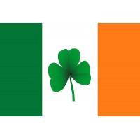 Прапор Ірландії з листком конюшини (клевера)