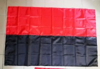 Червоно-чорний прапор (шитий) 140х90