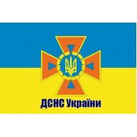 Прапор ДСНС України з написом
