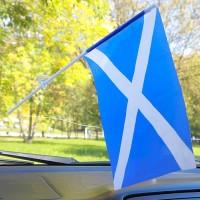 Шотландия флажок в авто