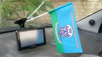 Флаг 90й окремий десантний батальйон м.Костянтинівка Флажок в авто