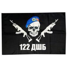 Флаг 122 окремий аеромобільний батальйон (черный)
