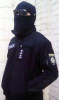 Куртка флисовая ТАКТИКА черная, 6 карманов