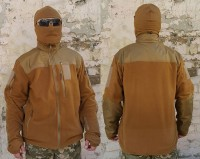 Куртка флисовая ТАКТИКА койот, 6 карманов