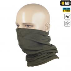 M-Tac зимний шарф-труба CORAL FLEECE олива. Комфорт холод **
