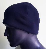 Шапка флисовая Темно-синяя 330гм Двойная Комфорт холод ****