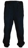Штаны флисовые черные с карманом