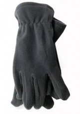 Перчатки флисовые серые