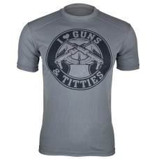 Футболка Coolmax I Love Guns & Titties (GREY)
