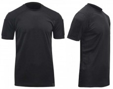 Черная футболка COOLPAS с липучками Velcro на рукавах