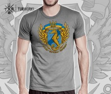 Футболка морський спецназ України Dum Spiro Spero (сіра) АКЦІЯ