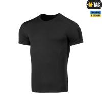 Футболка с липучкой кулмакс черная потоотводящая M-TAC Athletic Velcro Black