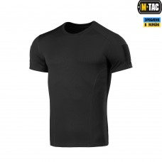 Футболка кулмакс черная потоотводящая M-TAC Athletic Velcro Black