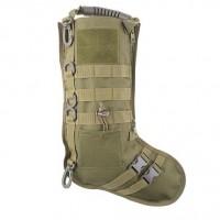 "Різдвяна ""тактична"" шкарпетка GFC (олива) з моллє та липучками"