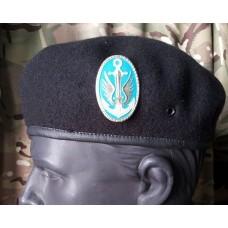 Берет морская пехота бесшовный с кокардой (черный)