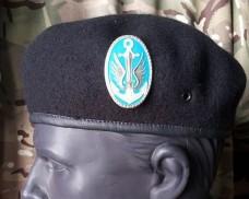 Берет морська піхота безшовний з кокардою (чорний)