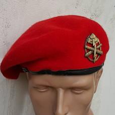 Берет красный MIL-Tec 12403010 с беретным знаком артиллерия ЗСУ