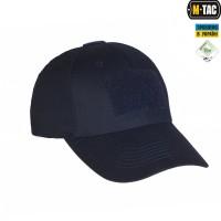 Бейсболка темно-синего цвета M-TAC Elite Flex рип-стоп Dark Navy Blue с липучкой для патча