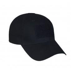 Черная бейсболка M-Tac. С липучками для патчей. Размер регулируется Cotton