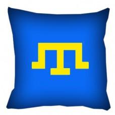 Декоративна подушка Кримськотатарська тамга (Синя)