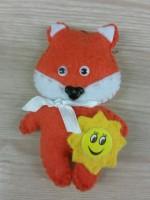 М'яка іграшка Волонтер Лисичка з Сонечком
