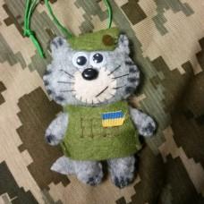М'яка іграшка Котик ЗСУ