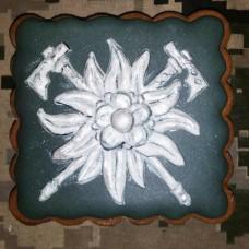Купить Пряник сувенірний знак Гірської Піхоти Едельвейс  в интернет-магазине Каптерка в Киеве и Украине