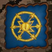 Пряник сувенірний знак радіотехнічних військ та військ зв'язку