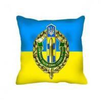 Декоративна подушка ДПСУ (жовто-блактина)