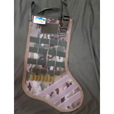 """Різдвяна """"тактична"""" шкарпетка (мультикам) з моллє та липучками"""
