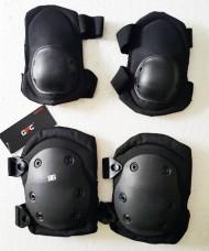 Комплект наколінники і налокітники Black GFC Tactical Акція 30%
