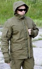 Куртка с капюшоном БЛОКПОСТ ОЛИВА