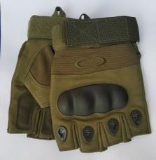 Купить Тактичні рукавички без пальців з накладками Олива в интернет-магазине Каптерка в Киеве и Украине